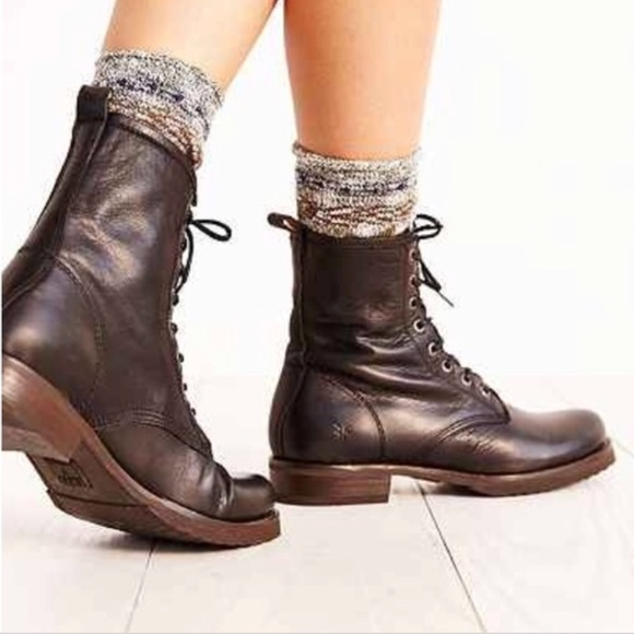477db7048 Frye Shoes | Veronica Combat Leather Boots | Poshmark